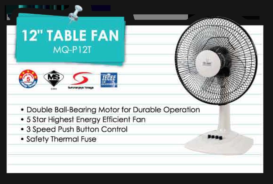 12u2033 Table Fan MQ P12T | MINDGM