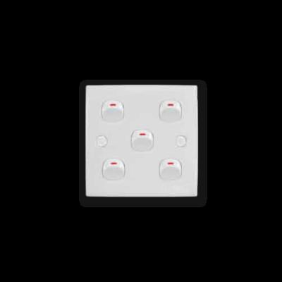 5 Gang 1 Way Switch 2K-105