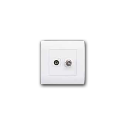 Single Coaxial TV & Cable TV Outlet MQ 8102-TV-SAT