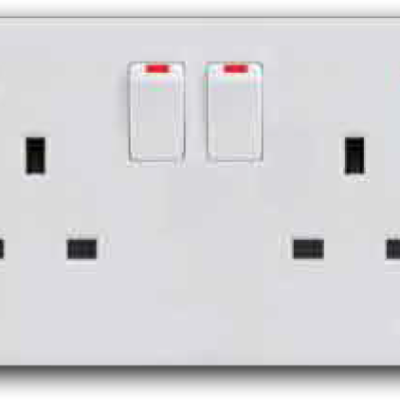 13A 2 Gang Switched Socket Outlet with Neon MS-132L(NEON)