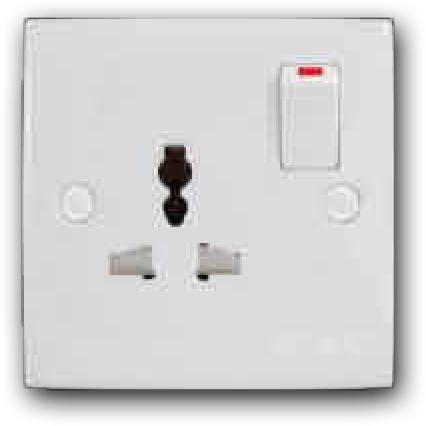 1 Gang Universal Switched Socket Outlet MU-131L