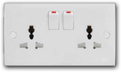 2 Gang Universal Switched Socket Outlet MU-132L