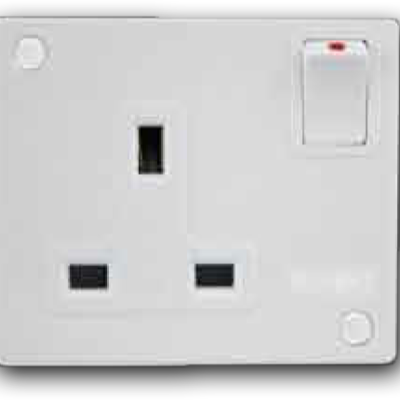 1 Gang Mini-Switched Socket Outlet A-3321