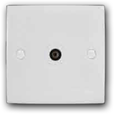 Single Coaxial TV Outlet 2K-101 (TV)