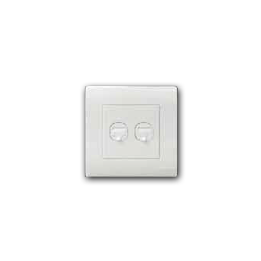 Single RJ11 Telephone Outlet & RJ45 Cat.5e Data Outlet MQ 8102-TEL-COM