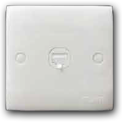 Double RJ11 Cat 3 Telephone Outlet 2K-102(TEL)