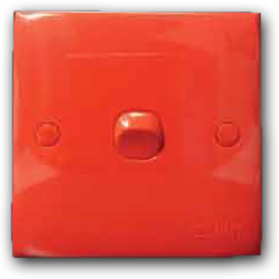 1 Gang 1 Way Switch (Red Cover & Red Rocker) 10AX 250V 2K-101 (R/C-R/R)